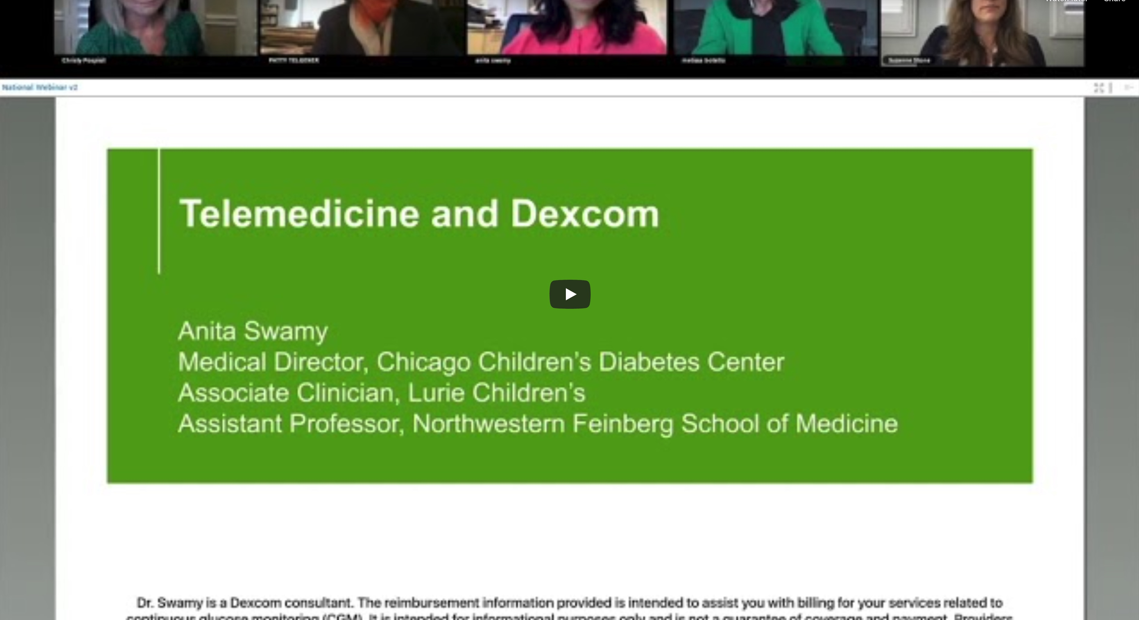 PRACTICAL TIPS AND CLINICAL RESOURCES FOR TELEHEALTH VISITS WITH DEXCOM CGM